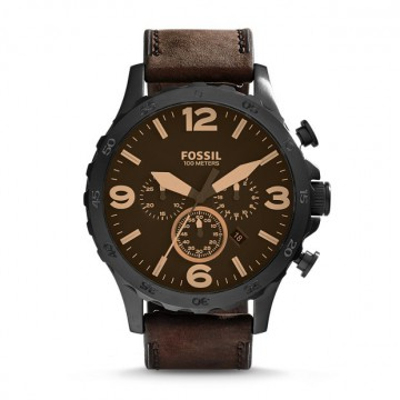 Fossil Nate Brown Leather Dial